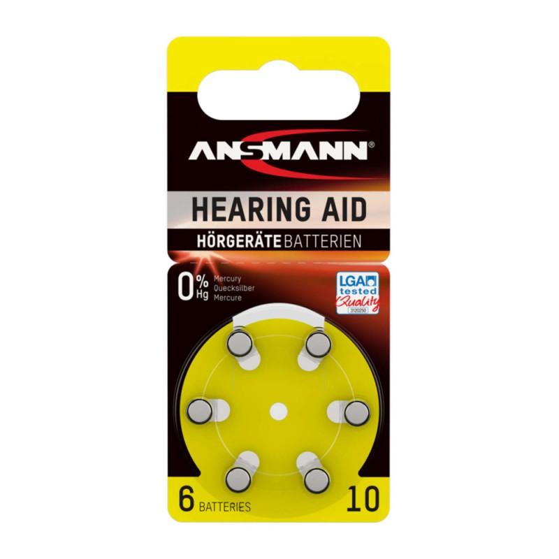 Ansmann Μπαταρίες ακουστικών βαρηκοΐας, Τύπος 10, PR70, 1.4V