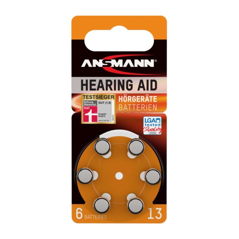 Ansmann Μπαταρίες ακουστικών βαρηκοΐας, Τύπος 13, PR48, 1.4V