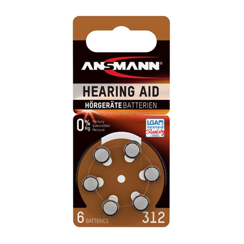 Ansmann Μπαταρίες ακουστικών βαρηκοΐας, Τύπος 312, PR41, 1.4V