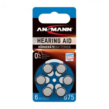 Ansmann Μπαταρίες ακουστικών βαρηκοΐας, Τύπος 675, PR44, 1.4V