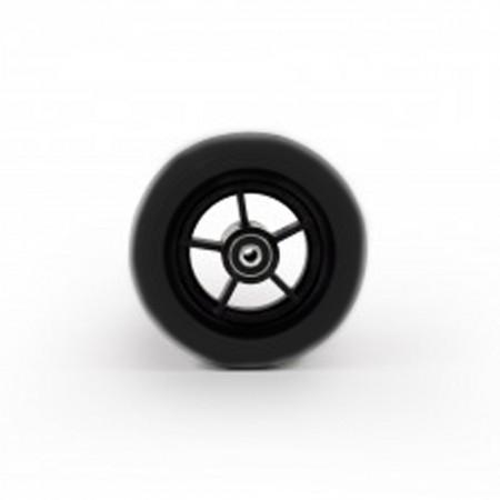 """140x40mm 5,5"""" τροχός πλαστικός μαύρος"""