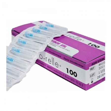 Meso-relle Βελόνες μεσοθεραπείας G-32 - 0,23 x 12mm, 100τεμ.