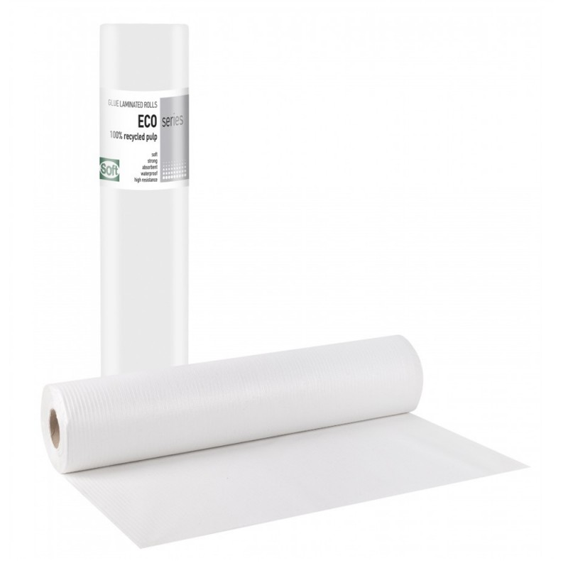 Soft PREMIUM Εξεταστικό ρολό πλαστικό & χαρτί eco, 58cm x 50m