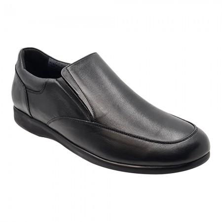Emanuele 6361 Ανδρικό comfort υπόδημα, Μαύρο