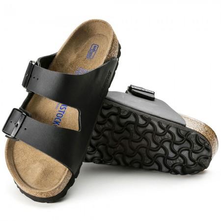 Birkenstock Arizona Soft Footbed Παντόφλα, Μαύρο