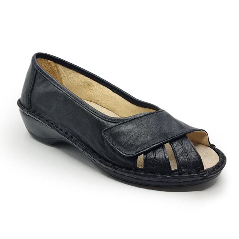 Emanuele 10437SM Γυναικείο comfort υπόδημα, Μαύρο