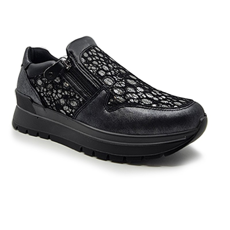 IMAC 608370 Γυναικεία sneakers, Μαύρο-Γκρί