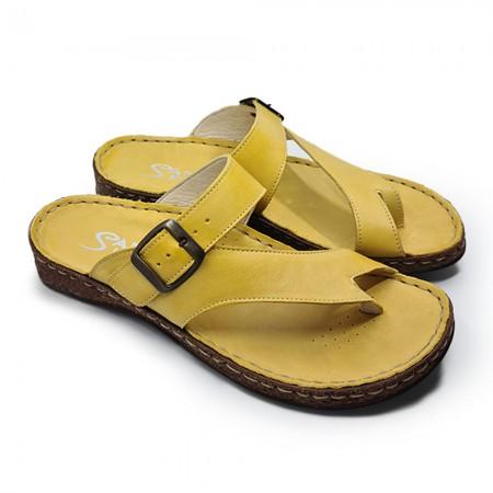 Vera Pelle 386141480 Γυναικεία παντόφλα, Κίτρινο