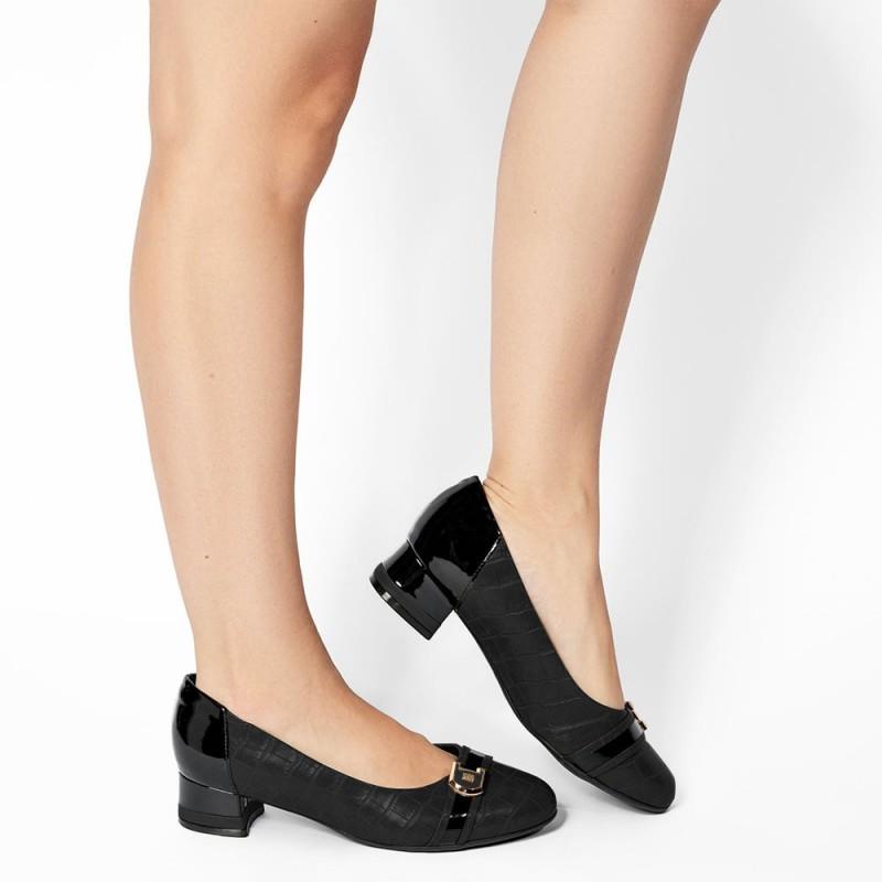 Piccadilly Rita Γυναικείο comfort υπόδημα, Μαύρο