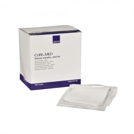 ABENA Curi-Med Επιθέματα γάζας απλά, αποστειρωμένα 8ply, 7,5×7,5cm 100 τμχ