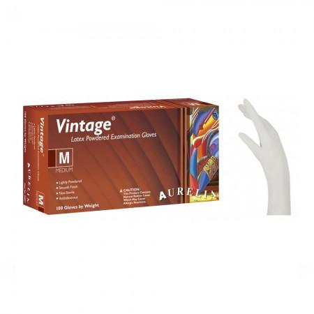 Aurelia Vintage Latex γάντια με πούδρα, Cream White, 100τεμ.