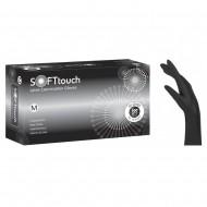 Soft Touch Latex γάντια χωρίς πούδρα, Μαύρο, 100τεμ.