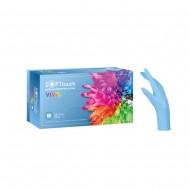 Soft Touch Vivid γάντια νιτριλίου, Γαλάζιο, 100τεμ.