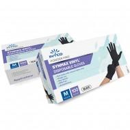 Synmax Εξεταστικά γάντια βινυλίου, Μαύρο 100τεμ.