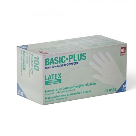 AMPri Γάντια Latex Basic Plus, χωρίς πούδρα, 100τεμ.