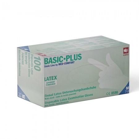 AMPri Γάντια Latex Basic Plus, με πούδρα, 100τεμ.