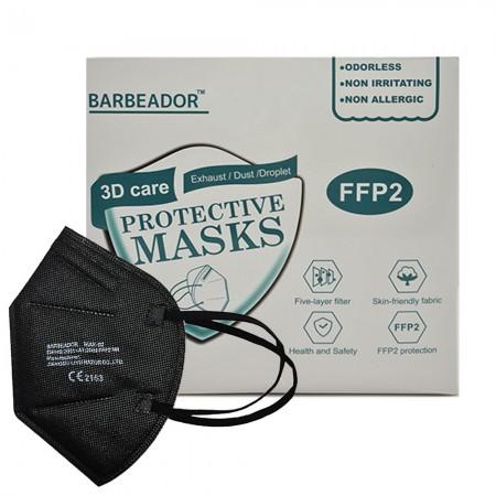 Protective Masks FFP2 Μάσκες ενηλίκων, Μαύρο, 20τεμ.