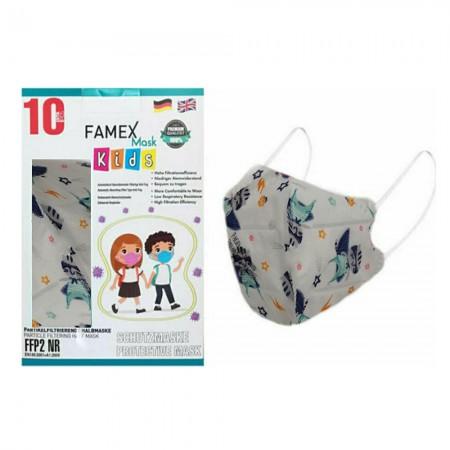 Famex Παιδικές μάσκες FFP2 NR μιας χρήσεως, Astrokid, 10τεμ.