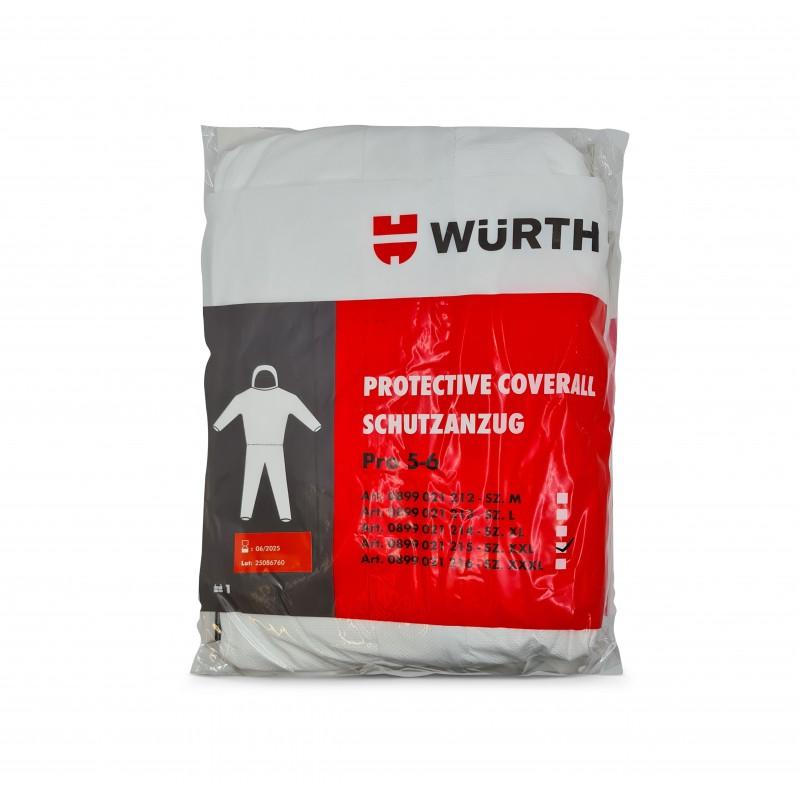 Wurth Ολόσωμη στολή προστασίας Pro CAT III Type 5-6, Λευκό, 1τεμ.