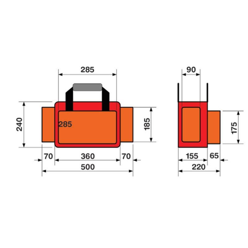Moretti EM810 Τσάντα Α' Βοηθειών 50 x 22 x 24 cm
