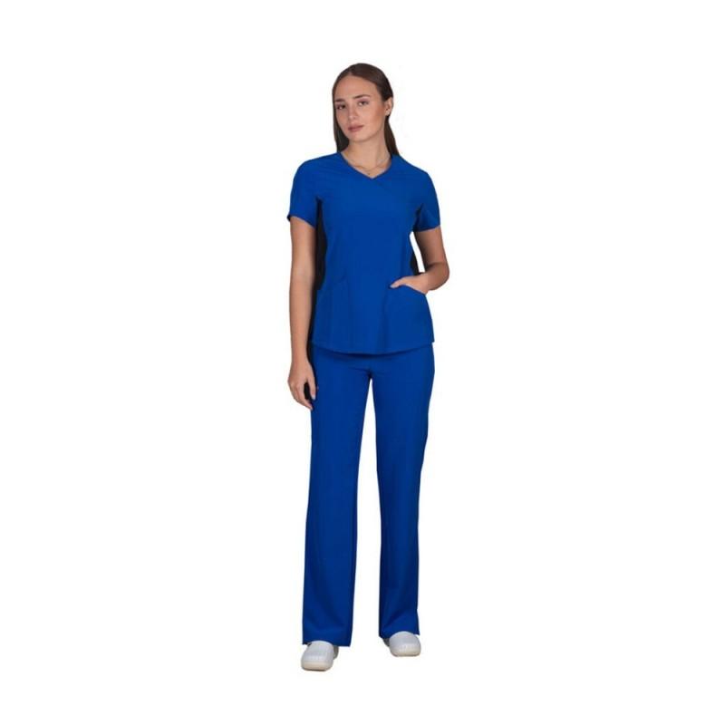 ALEZI Γυναικείο σετ Ιατρική στολή Stretch, Μπλέ