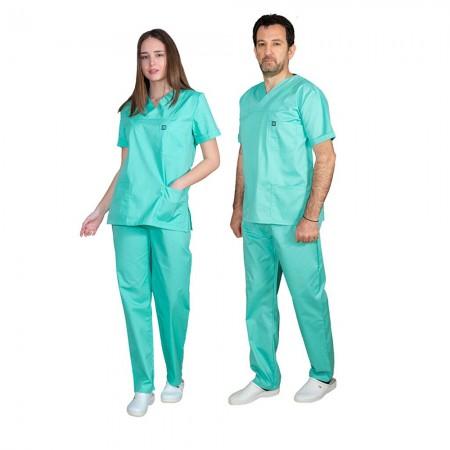 ALEZI Unisex σετ Ιατρική στολή, Βεραμάν