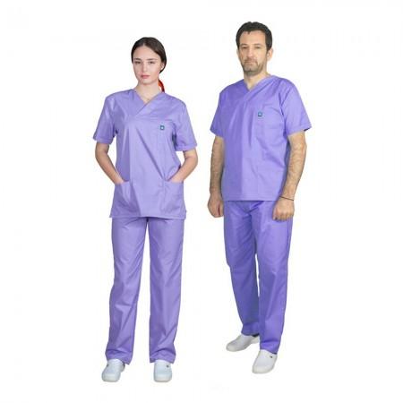 ALEZI Unisex σετ Ιατρική στολή, Μώβ