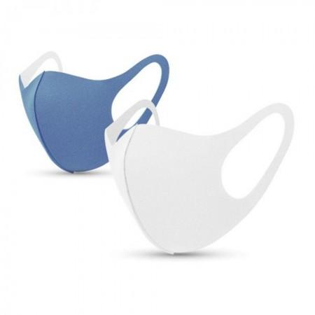 Μάσκες ενηλίκων ζευγάρι, Γαλάζιο-Λευκό, 2τεμ.