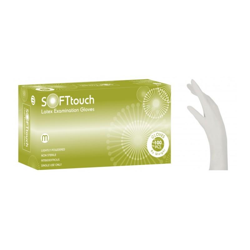 Soft Touch Latex γάντια με πούδρα, Λευκό , 100τεμ.