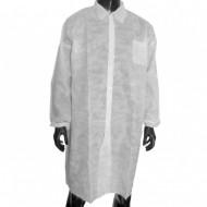 Soft Ρόμπα επισκεπτών Non-Woven με κουμπιά (Labcoat), Λευκό, 1τεμ.