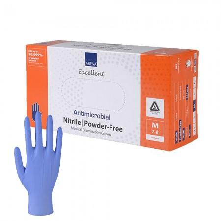 Abena Αντιμικροβιακά γάντια νιτριλίου, Μπλέ, 200τεμ.