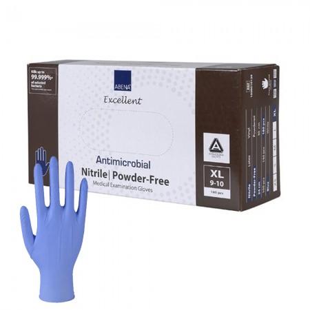 Abena Αντιμικροβιακά γάντια νιτριλίου, Μπλέ, 180τεμ.