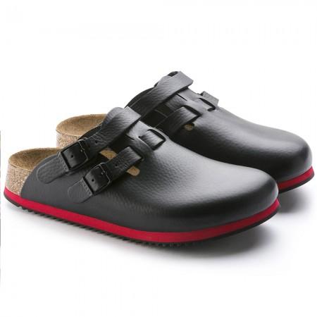 Birkenstock Kay SL Soft Footbed σαμπό, Μαύρο-κόκκινο