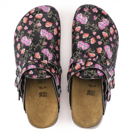 Birkenstock Kay SL Birko-Flor σαμπό, Blooming roses black