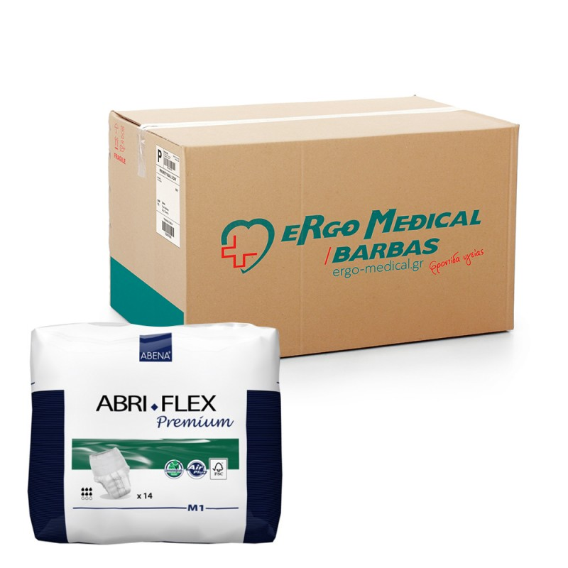 Abena Abri-Flex Βρακάκι ημέρας, Οικονομική συσκευασία, 1 Medium, 6x14τεμ.