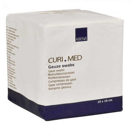 ABENA Curi-Med Επιθέματα γάζας, μη αποστειρωμένα 8ply, 10x10cm 100 τμχ