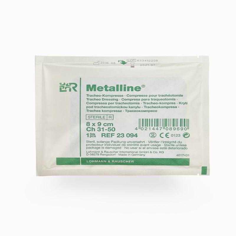 Metalline, Επιθέματα τραχειοστομίας με επικάλυψη αλουμινίου 8Χ9cm, 1 τεμ.