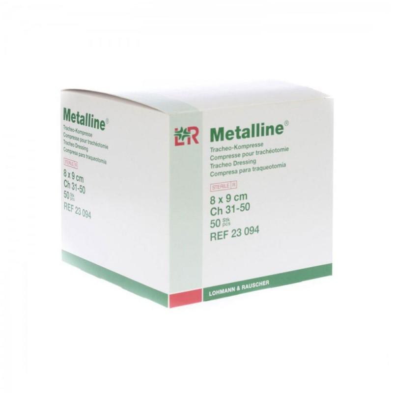 Metalline, Επιθέματα τραχειοστομίας με επικάλυψη αλουμινίου 8Χ9cm, 50 τεμ.