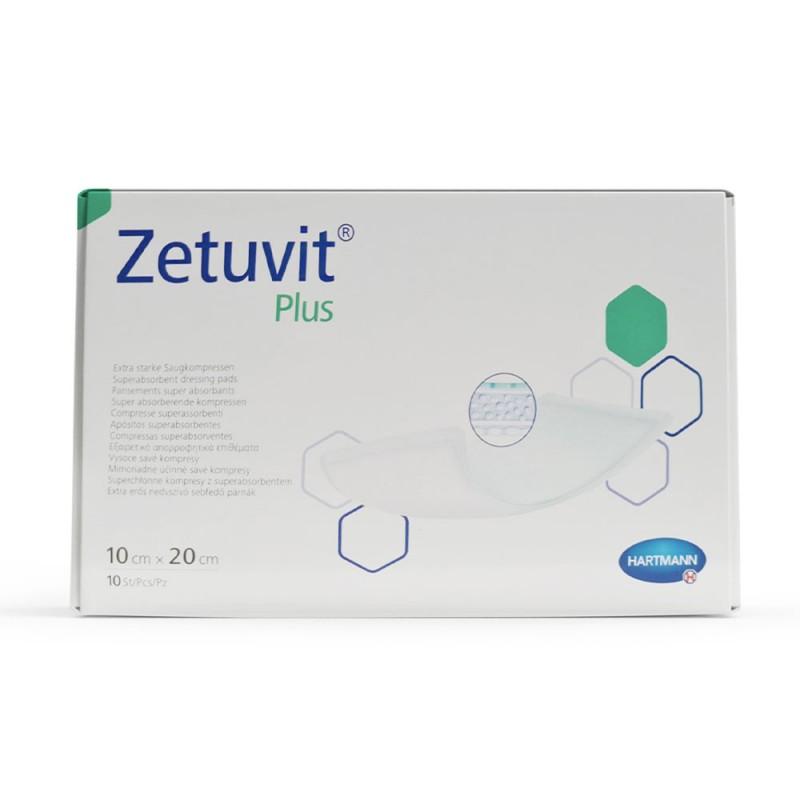 Hartmann Zetuvit plus, Aποστειρωμένο επίθεμα 10x20cm, 10 τεμ.