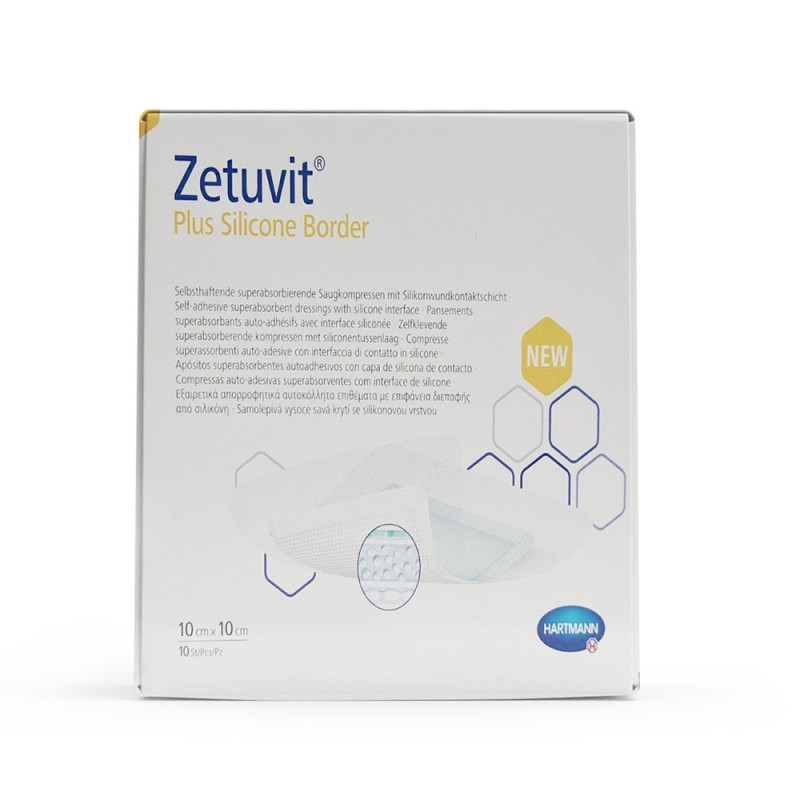 Hartmann Zetuvit Plus Silicone Border, Επίθεμα 10x10cm, 1 τεμ.