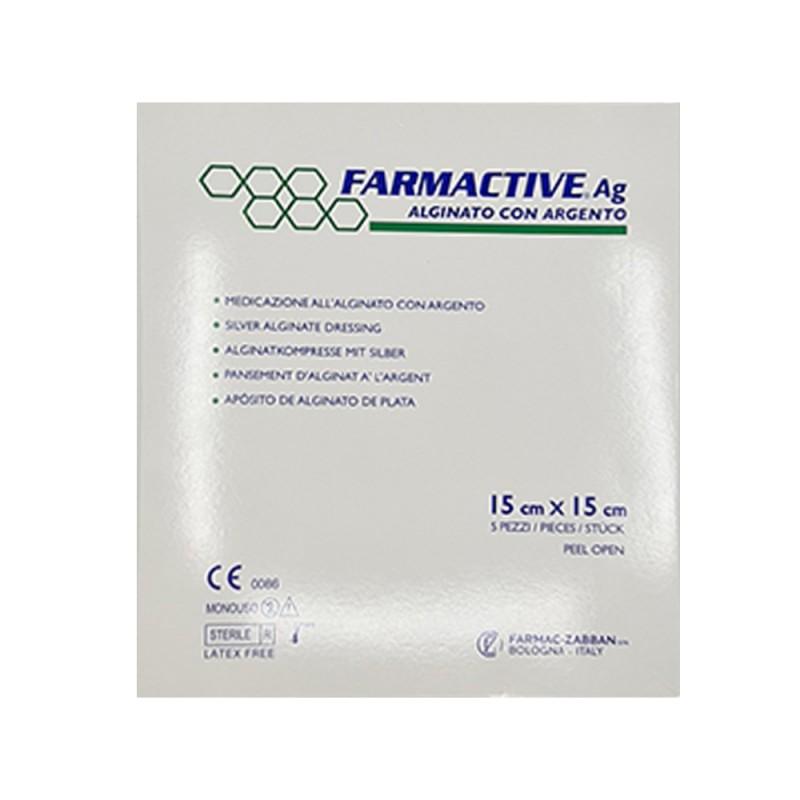 Farmactive Ag Alginato Con Algento, 15X15cm, 1 τεμ.