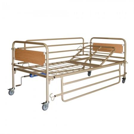 Χειροκίνητο κρεβάτι, μονόσπαστο με ρόδες
