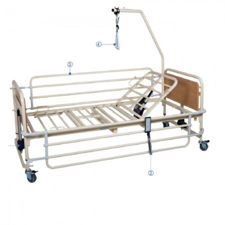 Ηλεκτρικό κρεβάτι Prato 3 μονόσπαστο, μεταβλητού ύψους