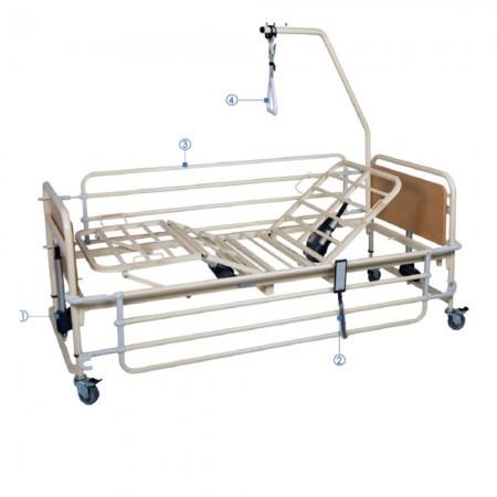 Ηλεκτρικό κρεβάτι Prato 4 πολύσπαστο, μεταβλητού ύψους