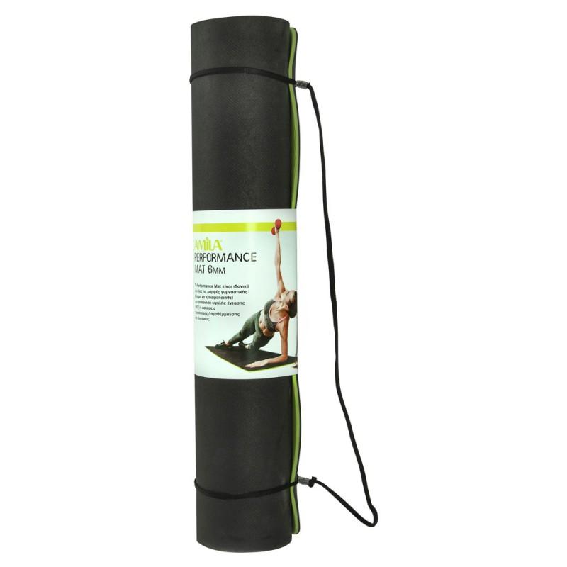 AMILA 81777 Performance Mat Στρώμα γυμναστικής 150 x 61 x 0,6 cm, Πράσινο