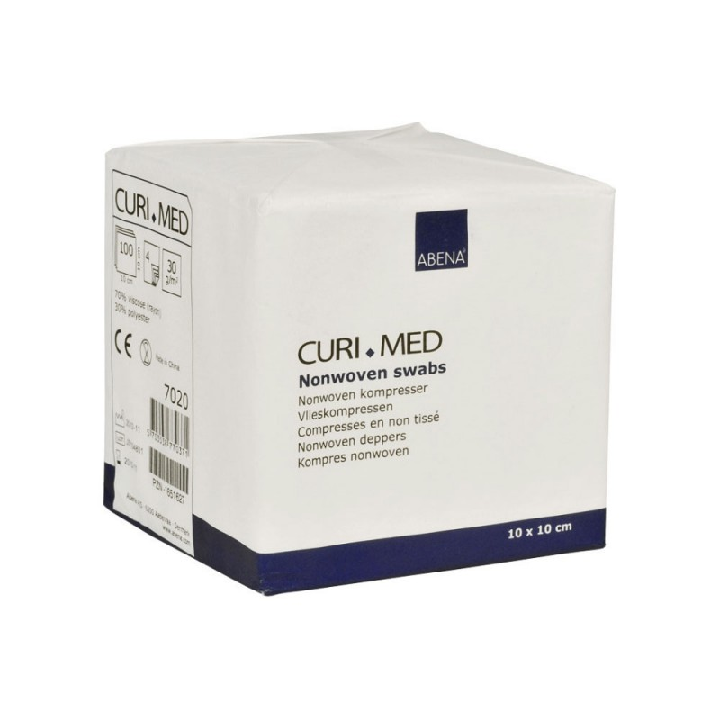 ABENA 7010 Curi Med Επιθέματα Non woven, μη αποστειρωμένα 4ply, 10x10cm, 100 τμχ