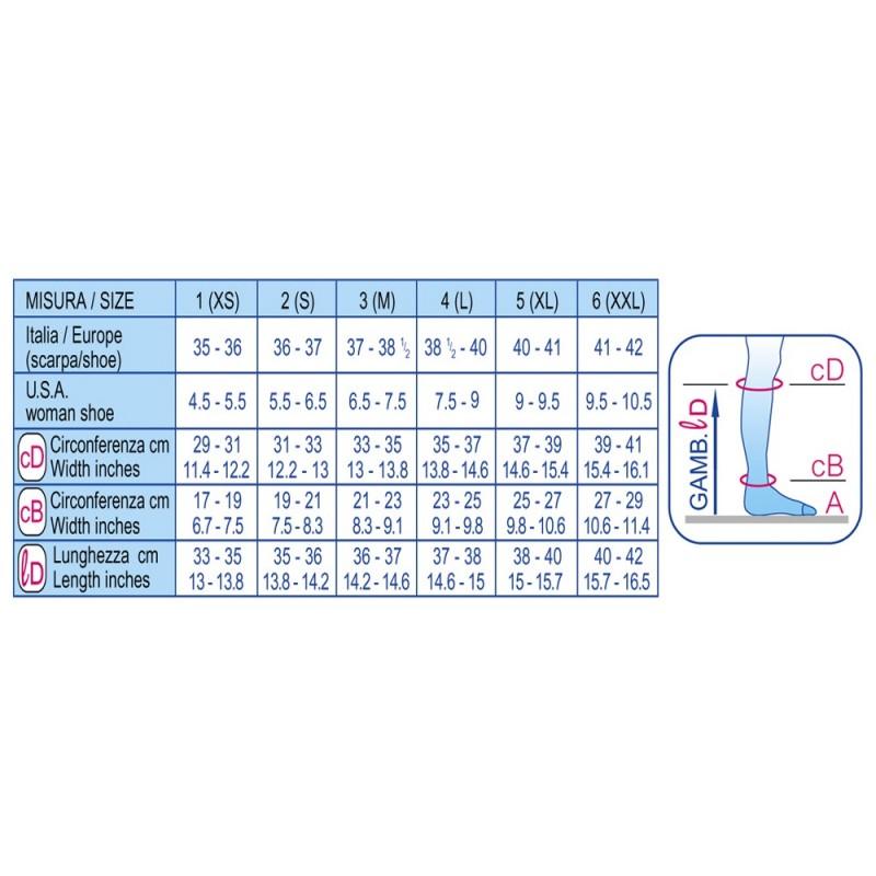Scudotex Κάλτσες κάτω γόνατος 443 K2 (mm Hg 23-32), Microfiber, κλειστά δάκτυλα