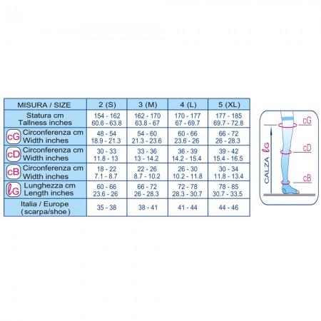 Scudovaris Κάλτσα ριζομηρίου αμφιδέξια 408 K1 (mm Hg 18-21), ανοιχτά δάκτυλα, μπέζ-φυσικό