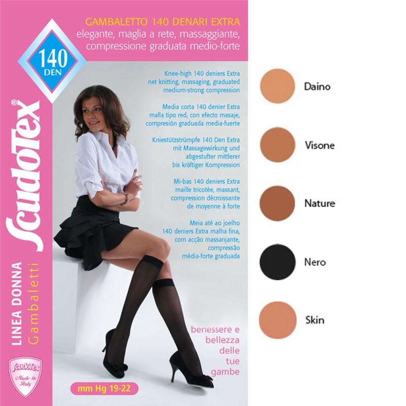 Scudotex Κάλτσες κάτω γόνατος 498 140 DEN (mm Hg 19-22), κλειστά δάκτυλα