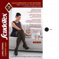 Scudotex Κάλτσες ριζομηρίου 592 70 DEN (mm Hg 15-18), Microfiber, κλειστά δάκτυλα, μαύρο